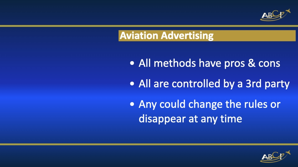 Aviation Advertising Methods