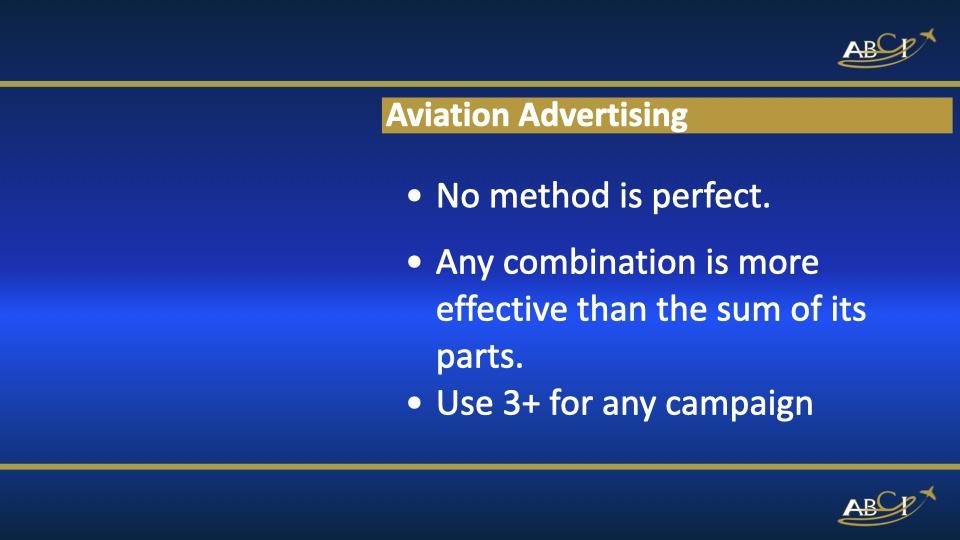 Aviation Advertising Factors