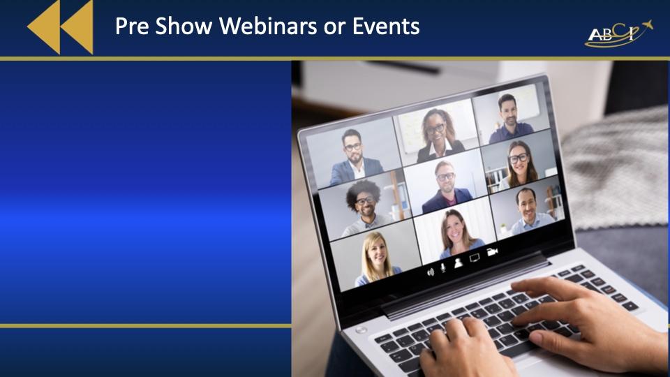 Aviation Trade Shows - How to do Hybrid Events - Preshow Webinars