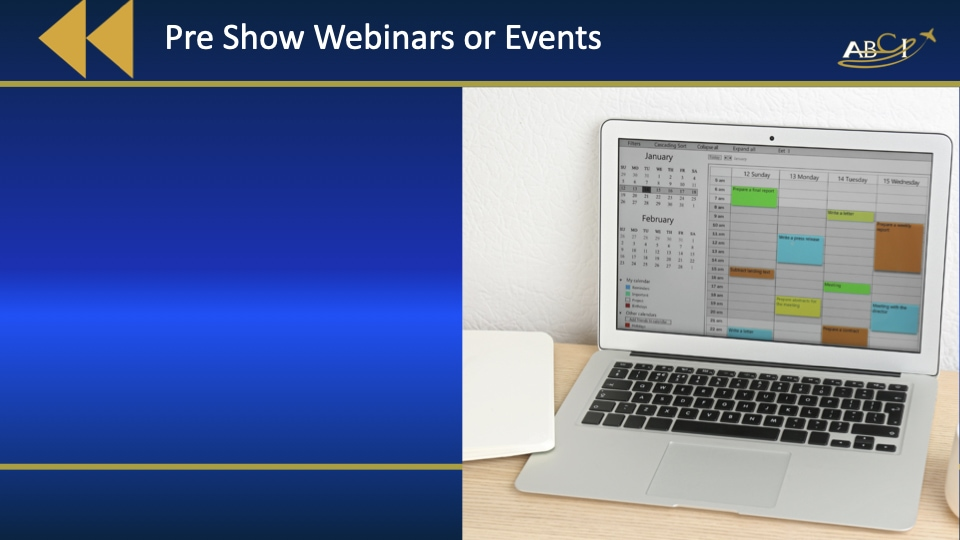 Preschedule Aviation Trade Shows - How to do Hybrid Events