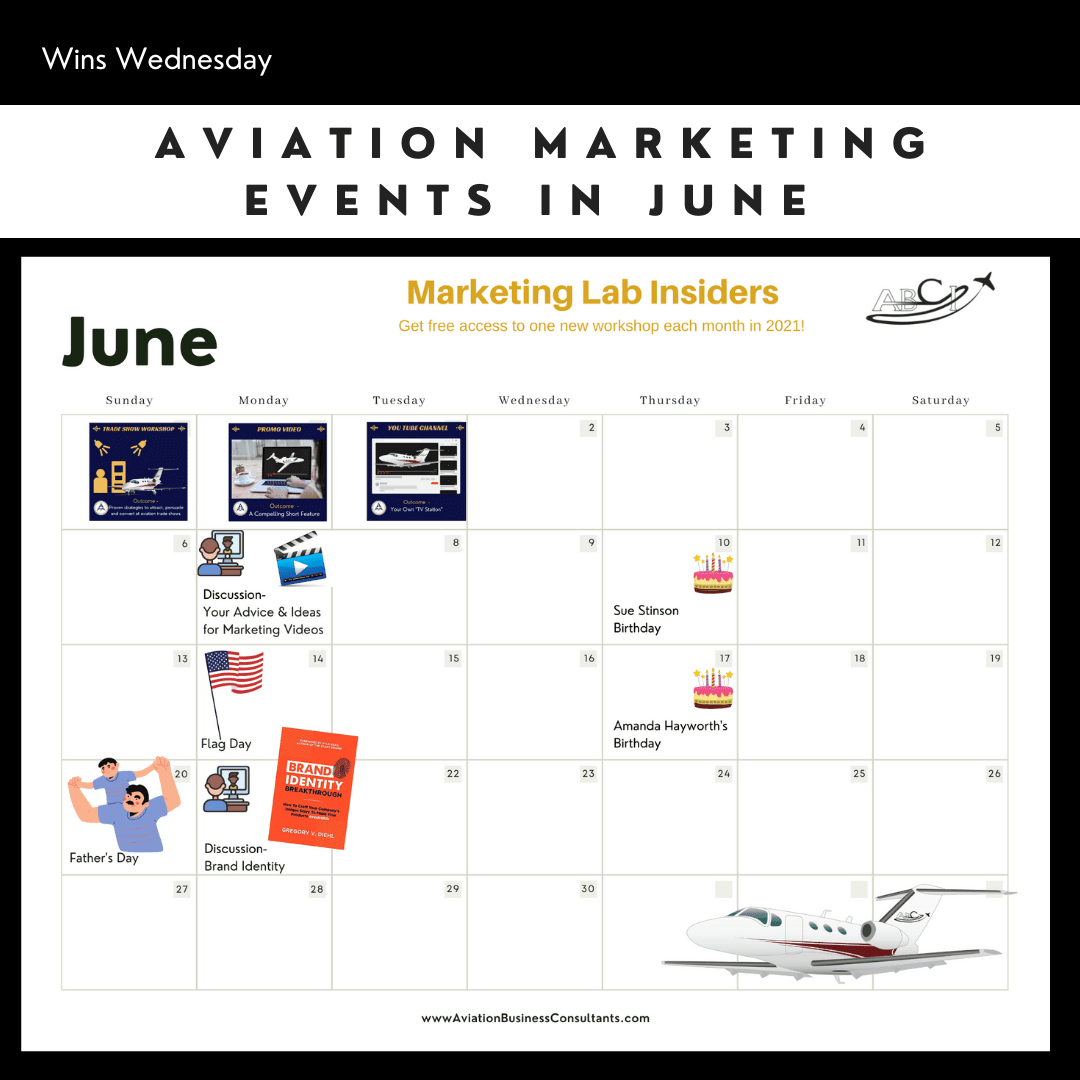 Aviation Marketing Events in June 2021