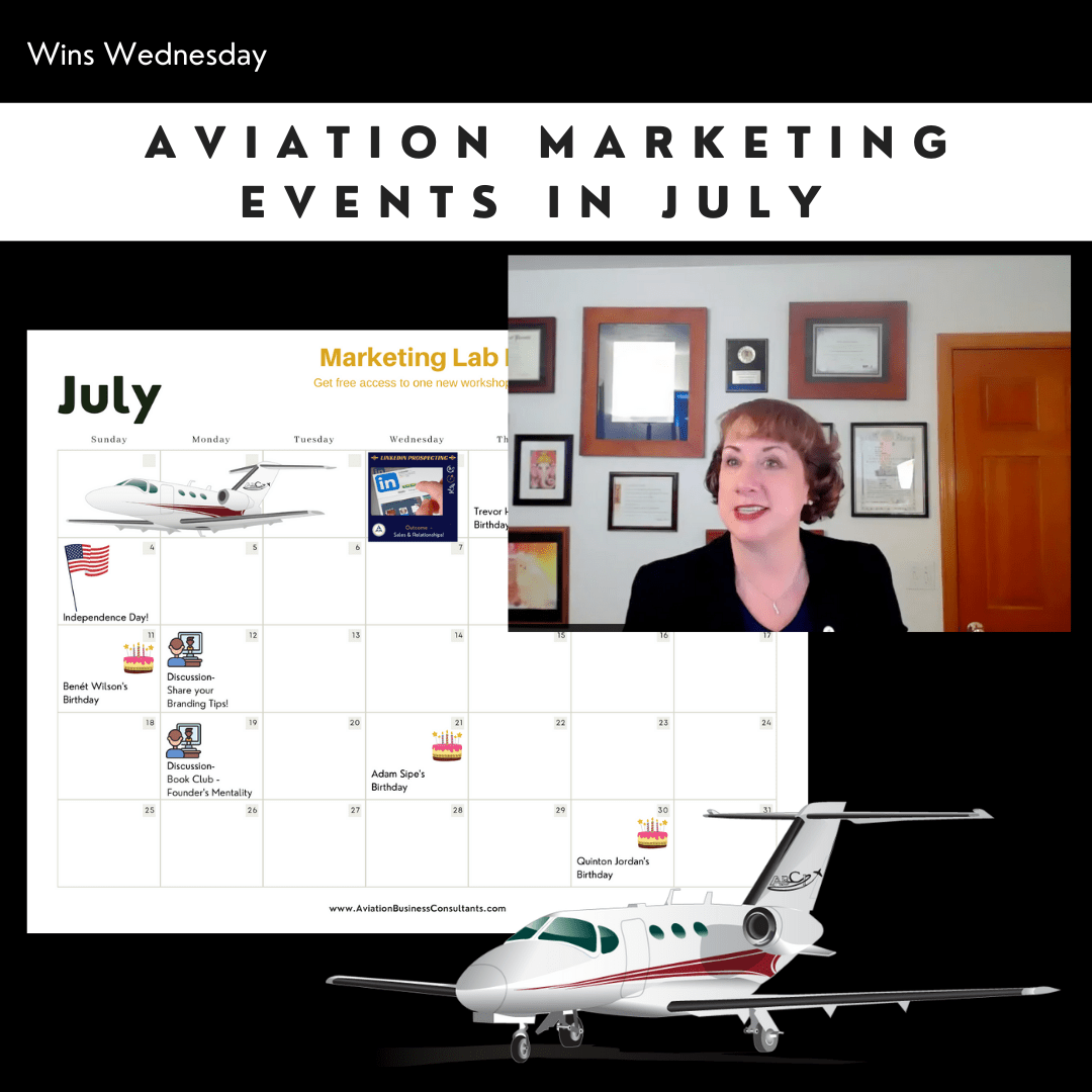Aviation Marketing Events in July 2021