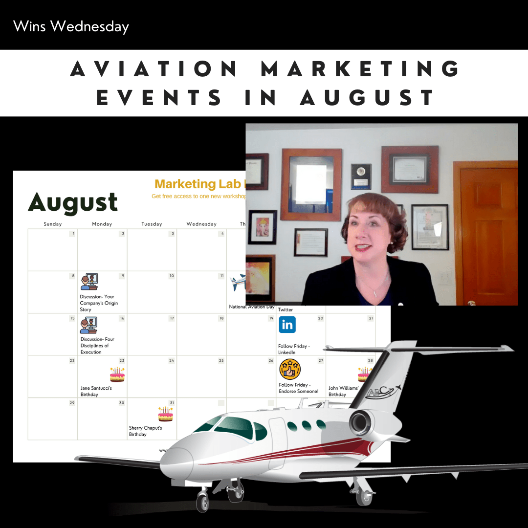 Aviation Marketing Events for August 2021