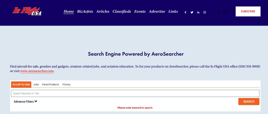 InFlight USA Adds AeroSearcher
