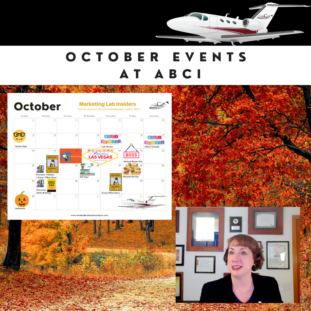 Aviation Marketing Events for October 2021